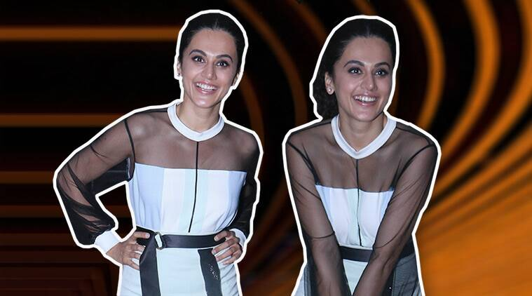 taapsee pannu, taapsee pannu quirky fashion, taapsee pannu sheer dress, taapsee pannu soorma promotion, indian express, indian express news