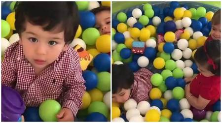 Taimur Ali Khan's play date with Yash and Roohi Johar, watch video