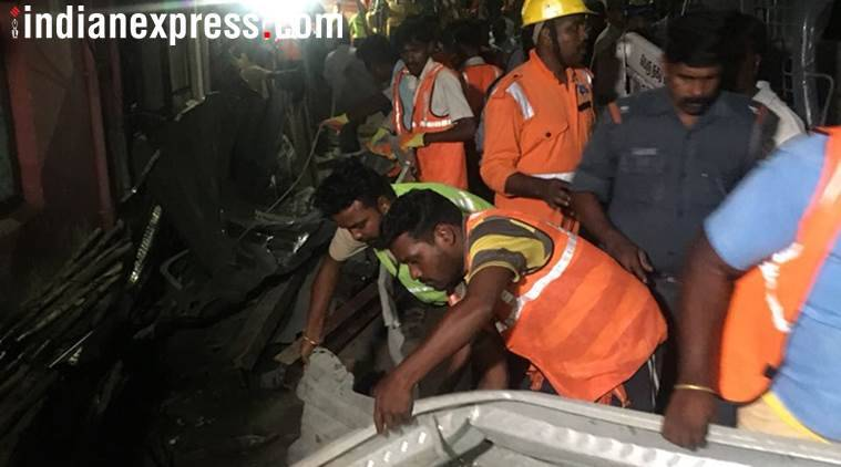 Chennai: An under-construction building collapsed in Kandanchavadi area of Chennai, leaving 17 people injured.