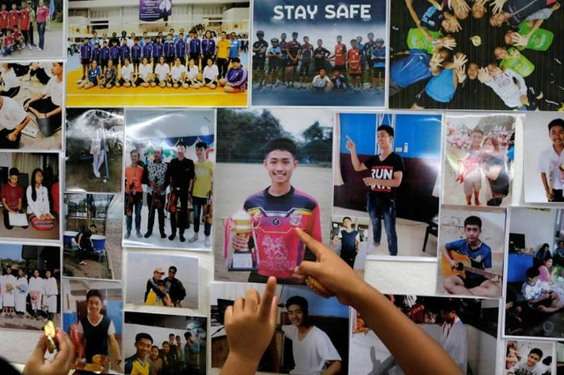 Four ambulances leave site of Thai cave