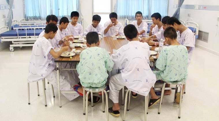 Cave boys speak of 'miracle' rescue after hospital discharge