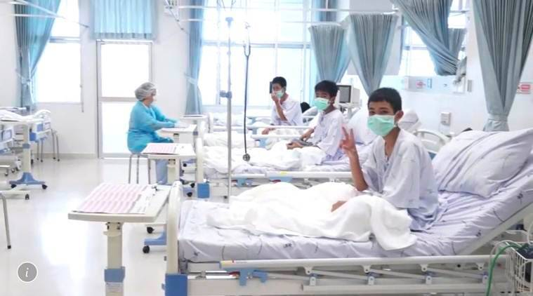 Thai Soccer Team Shown Safe in Hospital in First Footage Since Rescue