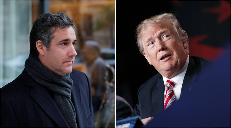 Attorney Michael Cohen (L) and US President Donald Trump.