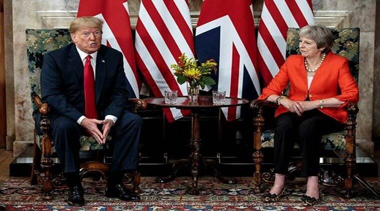 US President Donald Trump and British Prime Minister Theresa May meet Friday at Chequers near Aylesbury Britain