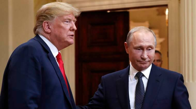 US, Russia, US-Russia, Prsident Donald Trump, President Vladimir Putin, 2016 US Presidential elctions, Russian interference in election, Trump-Putin Summit, Helsinki, Robert Mueller, World News, Indian Express