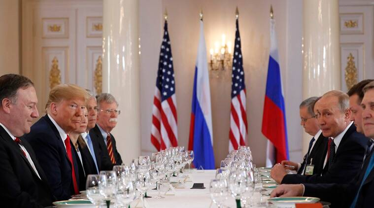 trump putin meeting, trump putin summit, trump putin press conference, trump in helsinki, robert mueller, us russia summit, indian express opinion, us politics, us presidential election, us election meddling
