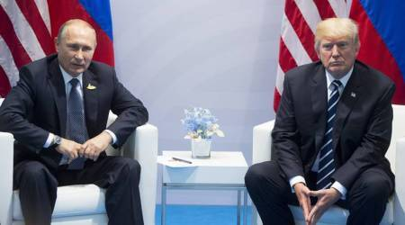 Watch: Vladimir Putin says 'complete nonsense' when asked if he has compromising info on Donald Trump
