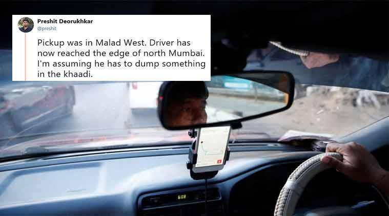 Mumbai man's sarcasm after Uber driver goes on a ride