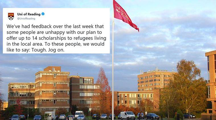 university of reading, refugee scholarships, scholarship for refugees, uk university refugee scholarship, education news, indian express, viral news, good news