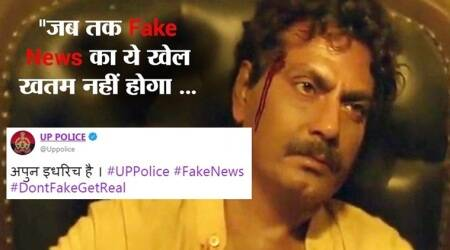 UP Police's Twitter handle joins the 'Sacred Games' meme-fest; warns against spreading fake news