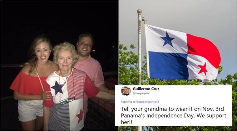 22862ac26d For more than 25 years this US woman celebrated the American Independence  Day wearing a top that resemblance Panama Flag. (Source: Dale Cheesman/  Twitter)