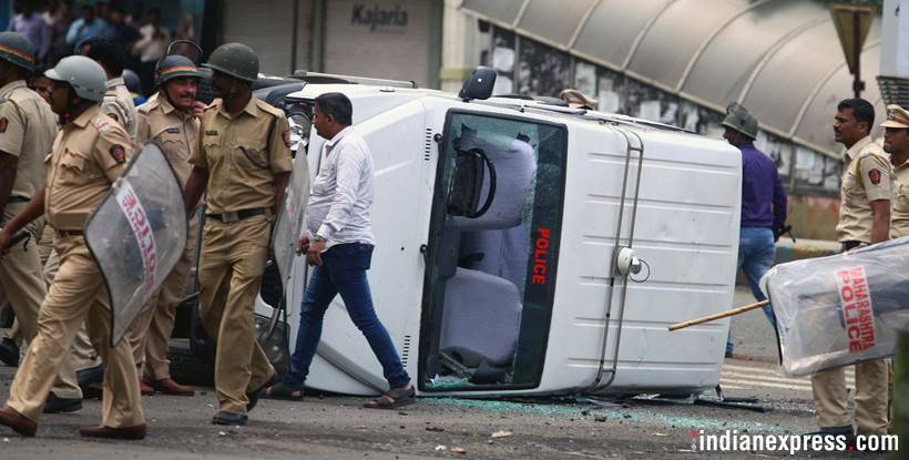 This is the violence that led to Maratha outfits withdrawing quota stir