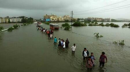 Rain batters Meghalaya, throws life out of gear