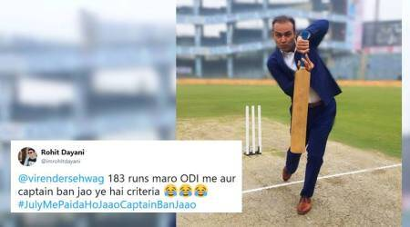 Virender Sehwag, Virender Sehwag funny tweets, Virender Sehwag july birthday tweet, Virender Sehwagfunny birthday tweets, sehwag birthday messages, july indian cricketers birthday, funny news, viral news, sports news, indian express