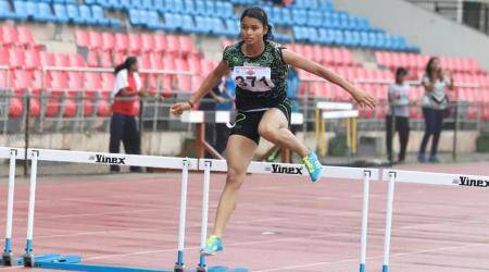 Dhanvir Singh, Dhanvir Singh record, Vishnu Priya, Vishnu Priya record, National Youth Athletics Championships, sports news, Indian Express