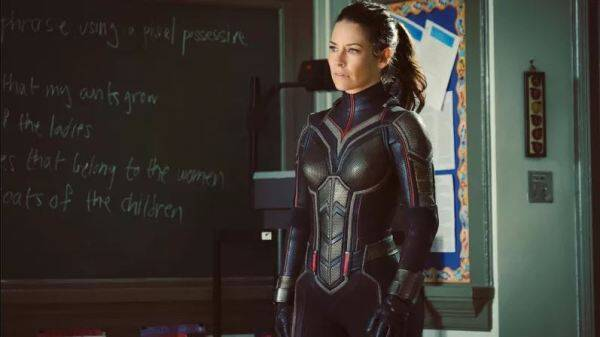 evangeline lilly as wasp in antman and the wasp