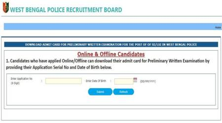 West Bengal Police recruitment: Admit card released, download at policewb.gov.in
