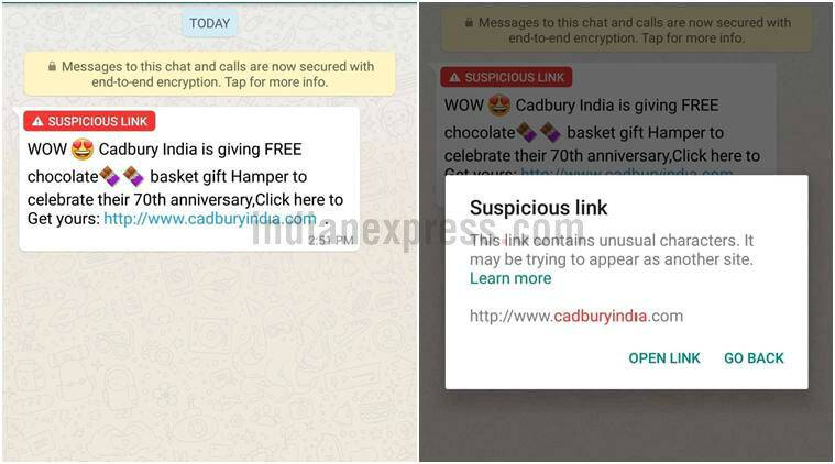 WhatsApp 'suspicious link detection' live for Android beta
