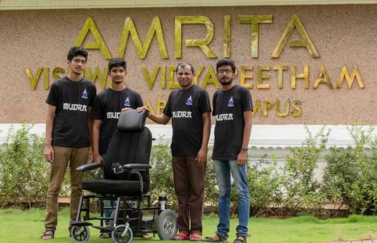 B.tech students develop India's first self driving wheelchair – Self-E