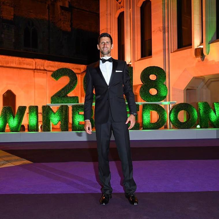 Novak Djokovic at the Wimbledon Champions Dinner