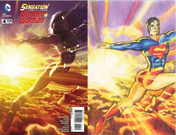Superman, Wonder woman, comics,