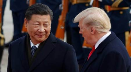 Chinese President Xi Jinping with his US counterpart Donald Trump.