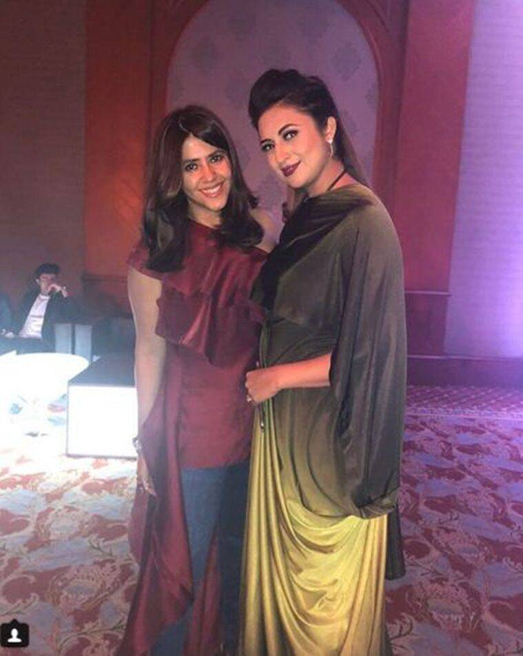 ekta kapoor and divyanka tripathi celebrate Yeh Hai Mohabbatein success