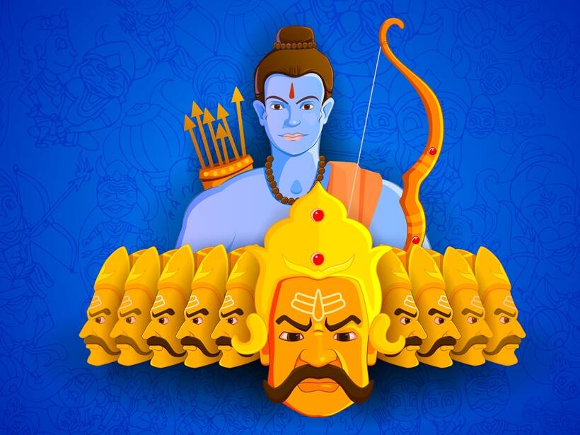 Happy Raksha Bandhan, Surpanakha, Ravana, Rama.