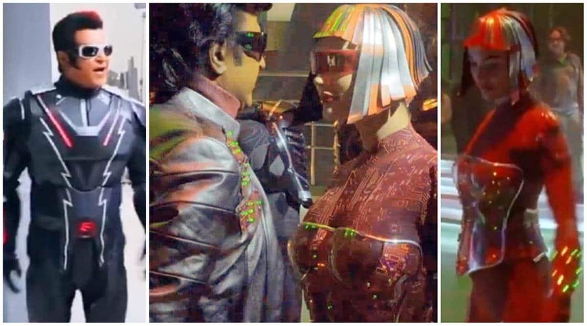 Amy Jackson Leaked Pics 2.0 leaked video shows rajinikanth and amy jackson dancing