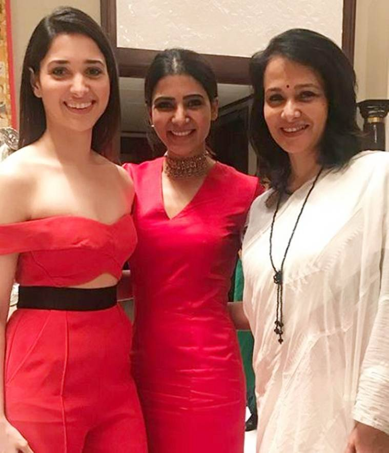 Tamannaah Bhatia with samantha and amala akkineni