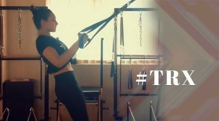 WATCH: Sonakshi Sinha shows how to make your workout more challenging with TRX