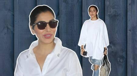 Plain white or colourful, Anushka Sharma and Sophie Choudry show how to add sass to the airport look
