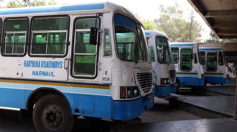 Haryana roadways, transport,roadways employees,Bus strike, private buses, privatisation, Haryana Transport Department, Sarv Karamchari Sangh, Indian Express