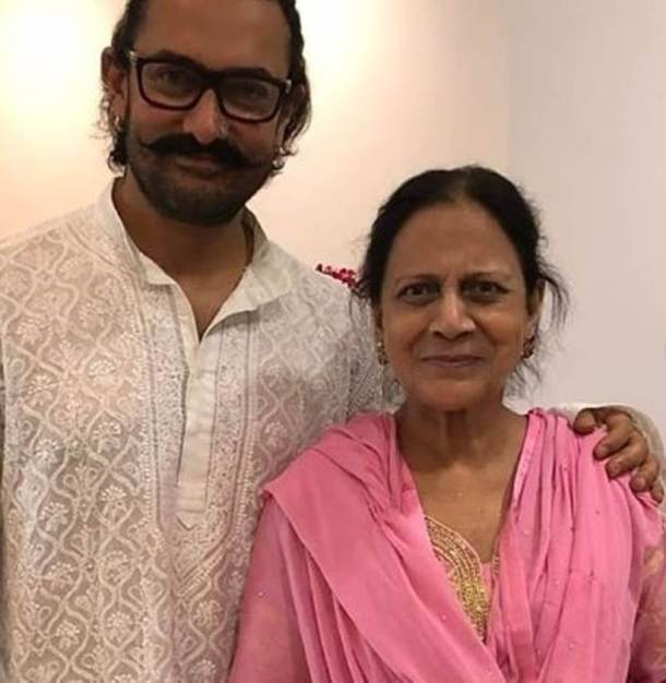 aamir khan with mother