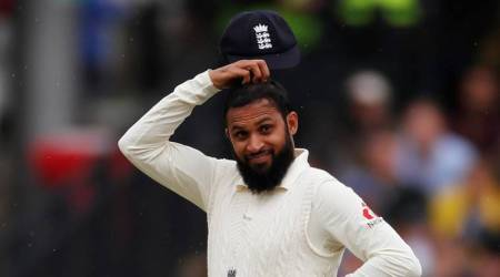 England's Adil Rashid gestures during the second Test match against India