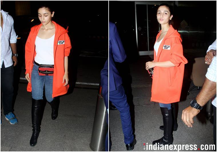 alia bhatt, alia bhatt airport fashion, alia bhatt travel style, alia bhatt latest photos, alia bhatt updates, celeb fashion, bollywood fashion, indian express, indian express news