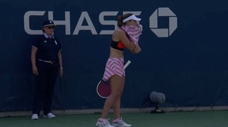 'Ridiculous': Tennis player sanctioned for removing her top on court