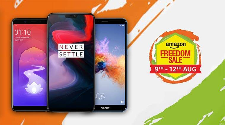 amazon freedom sale, amazon sale, amazon phone sale, amazon smartphones deals, nokia 6.1, samsung galaxy note 8, huawei p20 pro, honor 7c, honor 7x, moto g5s plus, amazon deals, amazon smartphone offers today