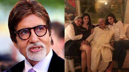amitabh bachchan posts an adorable photo showing four generation of women in his life