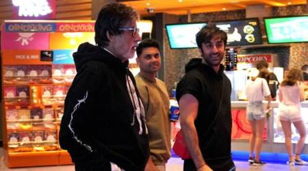 Ranbir Kapoor goes on a movie date with Amitabh Bachchan, Alia Bhatt returns home