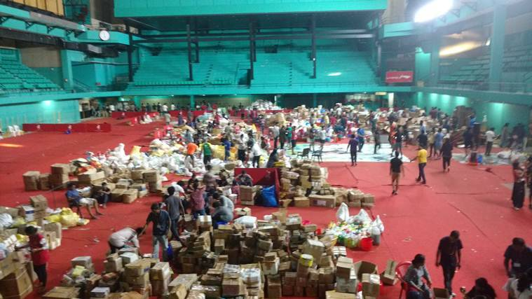 Kerala floods: At Kochi's massive flood supplies collection centre, volunteers say 'keep it coming'