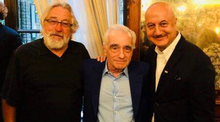 Anupam Kher is star struck in the company of Robert De Niro and Martin Scorsese