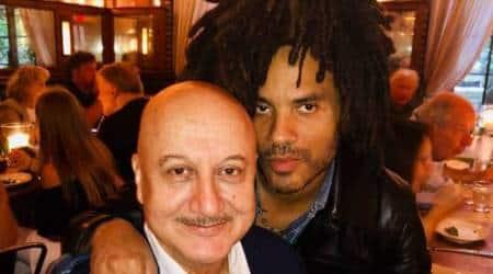 Anupama Kher with Lenny Kravitz