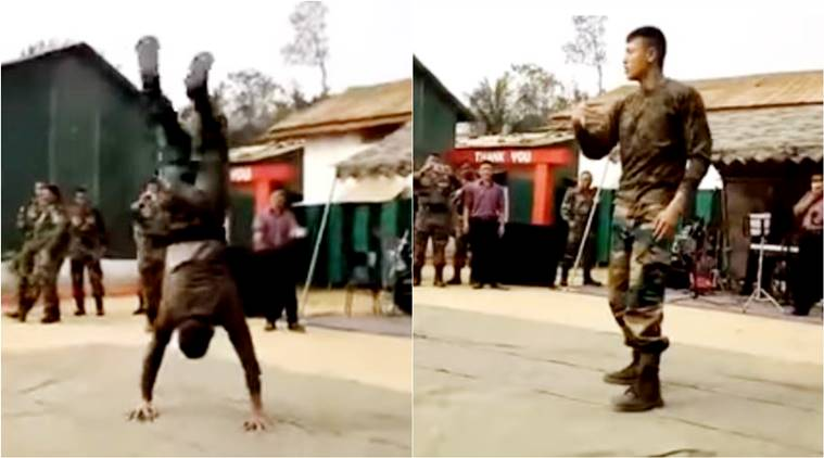 Indian army, indian army dance video, soldier dance, soldier dance viral video, viral dance video, army video, indian express, indian express news