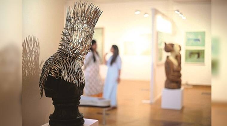 Delhi Contemporary Art Week, indian habitat centre, delhi galleries, art galleries in delhi, visual art galleries in delhi, shrine empire gallery, art exhibitions in delhi, indian express news