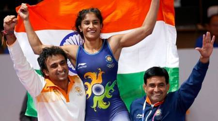 Asian Games 2018 Day 2 Highlights: Vinesh Phogat wins gold; Deepak Kumar, Lakshay Sheoran take silver