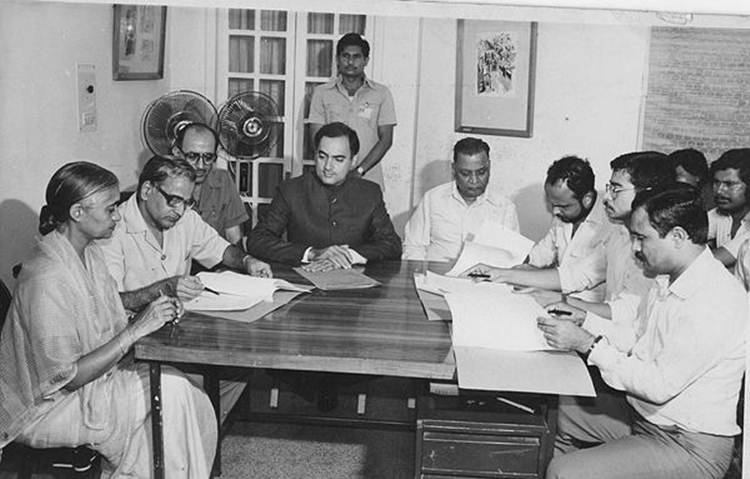 Image result for assam accord rajiv gandhi