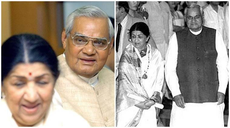 Image result for latest images of lata mangeshkar with atal bihari vajpayee ji