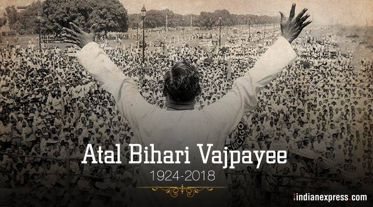 atal bihari vajpayee, atal bihari vajpayee death, vajpayee dead, atal bihari vajpayee age, atal bihari vajpayee latest news aiims, atal bihari vajpayee no more, vajpayee dies, atal bihari vajpayee health, atal bihari demise, former premier death, atal bihari vajpayee AIIMS, latest news, indian express, live news