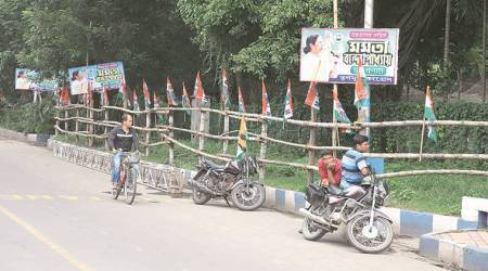 CM's cutouts, TMC hoardings crop up again, this time around Amit Shah rally venue